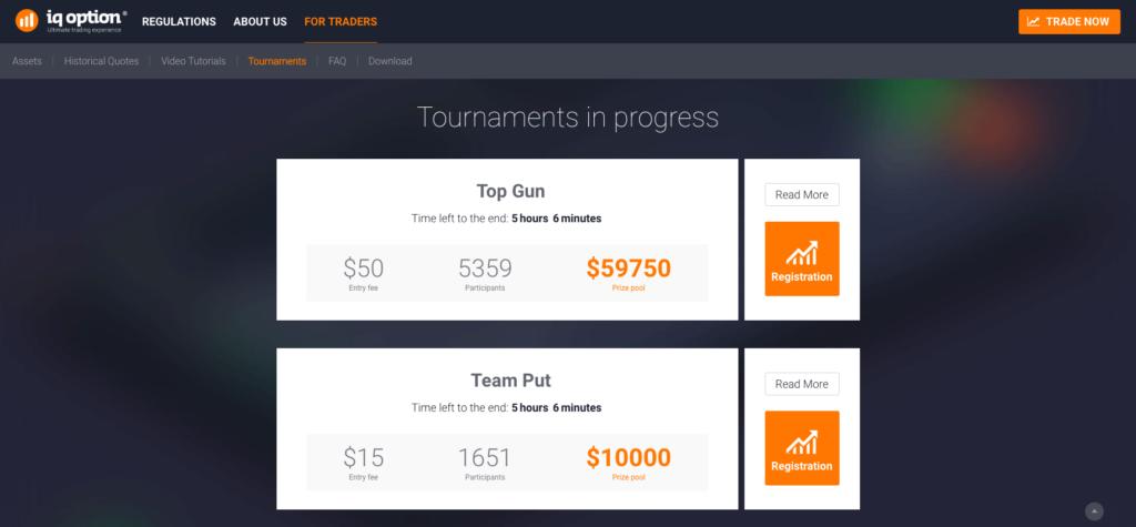 U brokera IQ Options probíhá celá řada turnajů v obchodování