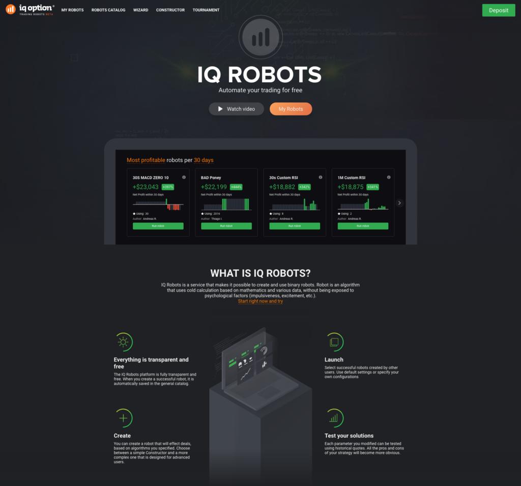 """Obchodní roboti IQ Option jsou """"dobrý sluha, ale špatný pán"""""""
