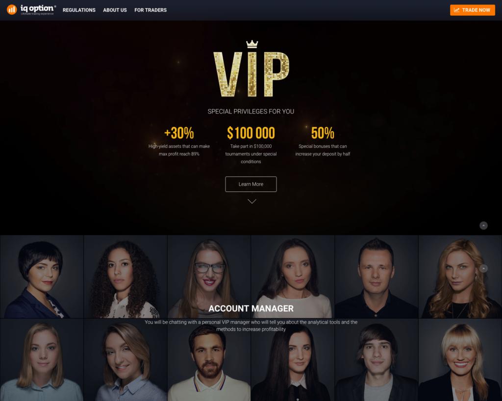 Podmínky pro VIP klienty brokera